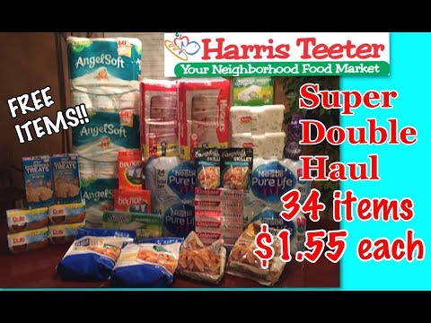Harris Teeter Super Double Haul 3/4/18 Free items Couponing Crystle