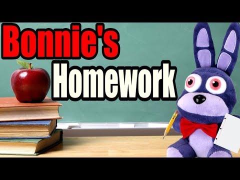 FNAF Plush - Bonnie's Homework