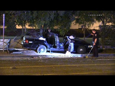 Deputy Involved Traffic Collision / Long Beach  RAW FOOTAGE