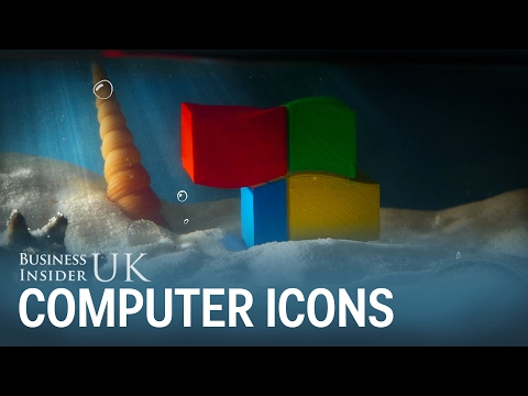 3D artist turns computer icons into animations
