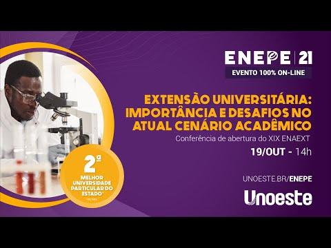 Conferência de abertura do XIX ENAEXT - Encontro Anual de Extensão