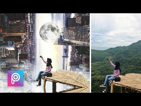 Cara Ganti Background City Manipulation Effect Dengan Picsart - PicsArt Tutorial Indonesia