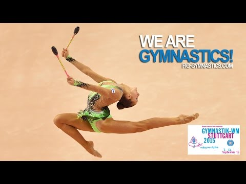 FULL REPLAY: 2015 Rhythmic Worlds, Stuttgart (GER) - Clubs & Ribbon Individual Apparatus Finals