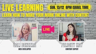 LIVE LEARNING with Felicity Kay on Content