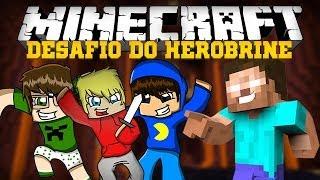 Minecraft: DESAFIO DO HEROBRINE (Mini-Game Novo)