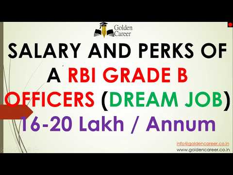 Salary And Perks of RBI Grade B officers (Your Dream Job) in Hindi