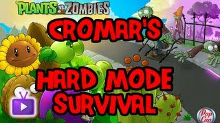 ★ Plants vs. Zombies - Hard Mode Survival (Roof): No Cabbage/Melons/Corn ft. Cromar