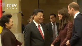 President Xi meets British PM, visits Imperial College London