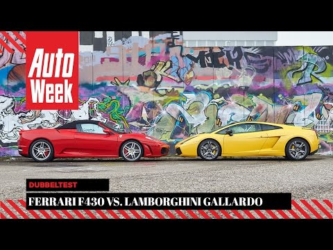 Ferrari F430 - Lamborghini Gallardo SE - AutoWeek Occasion Dubbeltest - English subtitles