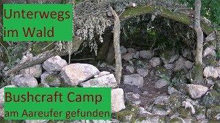 Unterwegs im Wald: Verstecktes Bushcraft Camp am Aareufer entdeckt │DEUTSCH #050