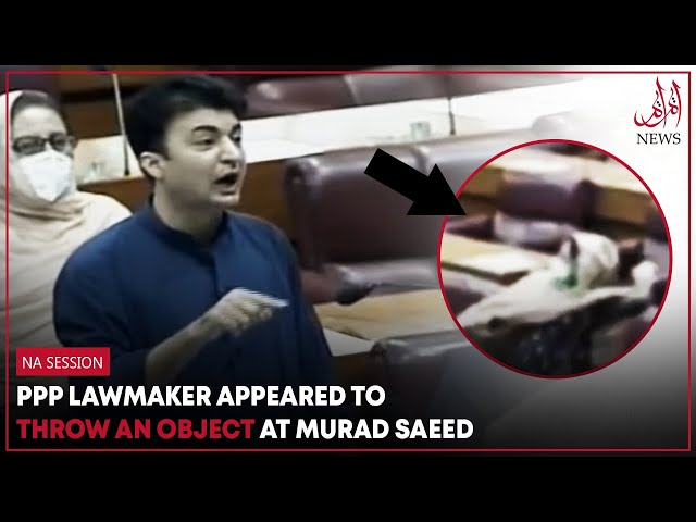 PPP Lawmaker Appeared To Throw An Object At Murad Saeed