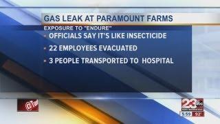 Gas leak at Paramount Farms