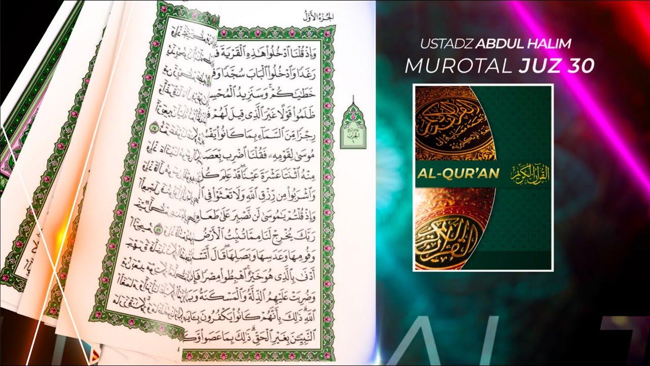 Murottal Al Qur'an Juz 30 Bacaan Surah An-Nazi'at - Abdul Halim