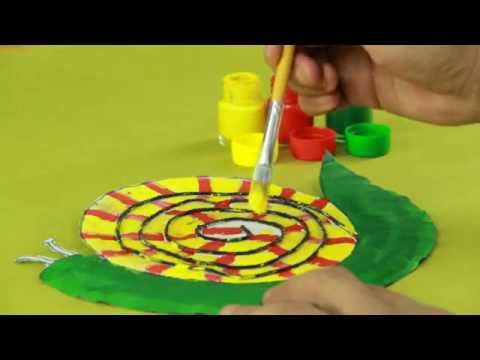 How To Make Paper Plate Snail Craft