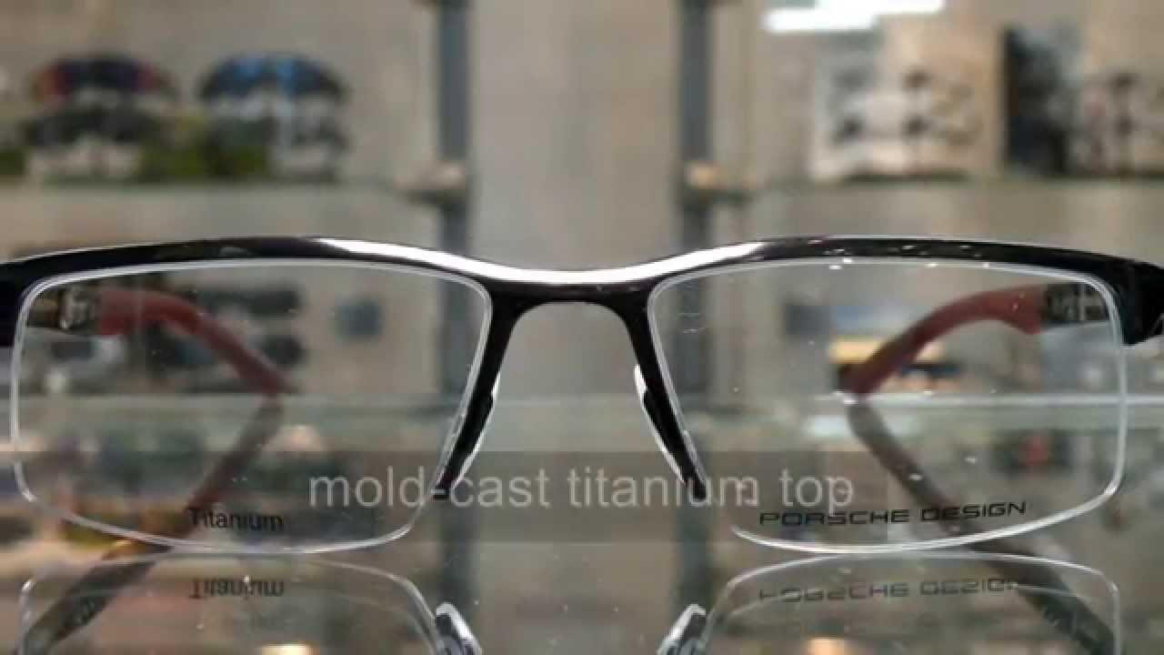 3cd1a2286107 Porsche Design eyewear P8166 titanium 眼鏡- YouTube