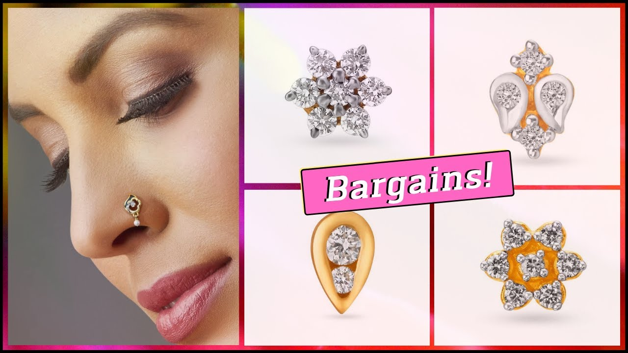 Tanishq Diamond Nose Pin Designs With Price 2019 Youtube