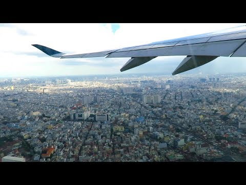 Vietnam Airlines A350-900XWB Wing View Takeoff from Ho Chi Minh City, Vietnam!