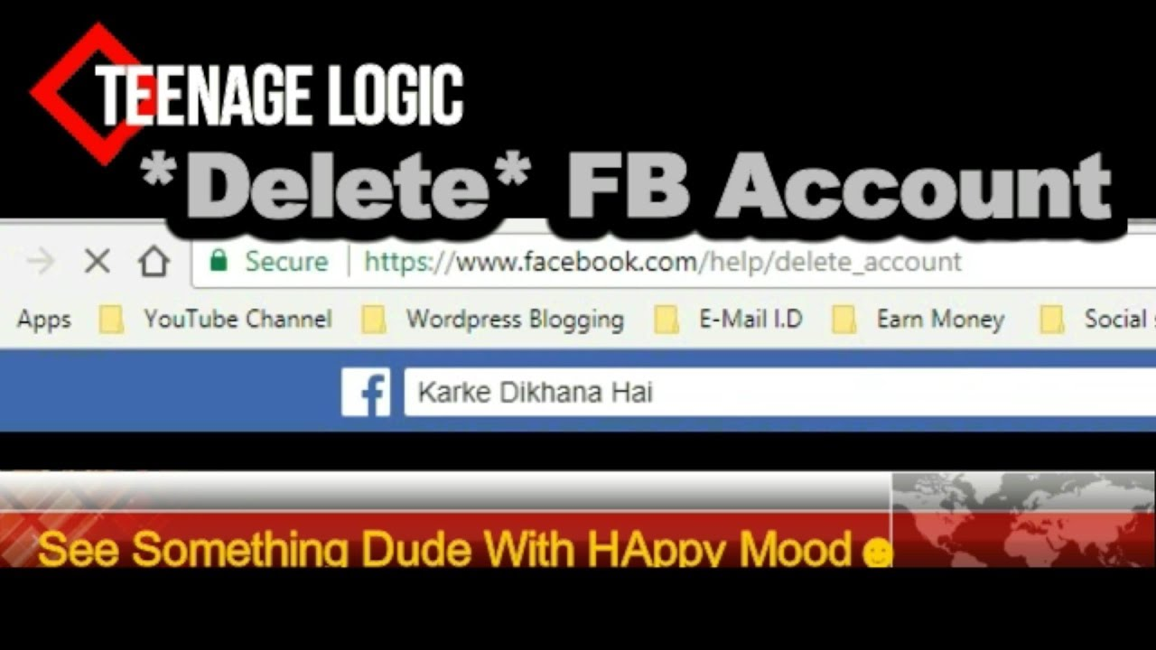How to delete facebook account permanently in easy way youtube how to delete facebook account permanently in easy way ccuart Images