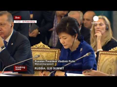 Opening of the G20 Summit in St Petersburg (recorded live feed)