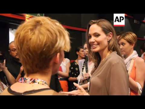 Angelina Jolie meets young film makers at Sarajevo film festival
