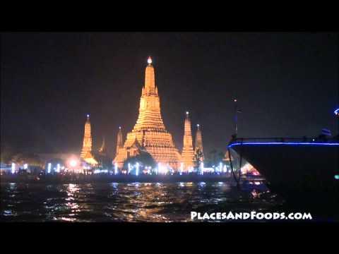 Wat Arun Night   Loy Krathong 2010 video 1