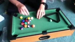 Mini Pool Table Unboxing