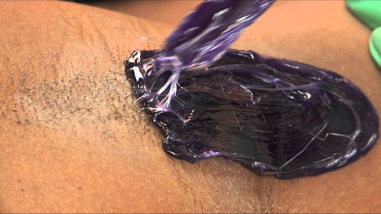 Se-Brazil Violet Hard Wax: How to Wax Underarms|Esthetician Training|  Purple Hard Wax