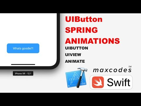 Button Tap Spring Animation - UIButton Spring Animations in Swift & Xcode thumbnail