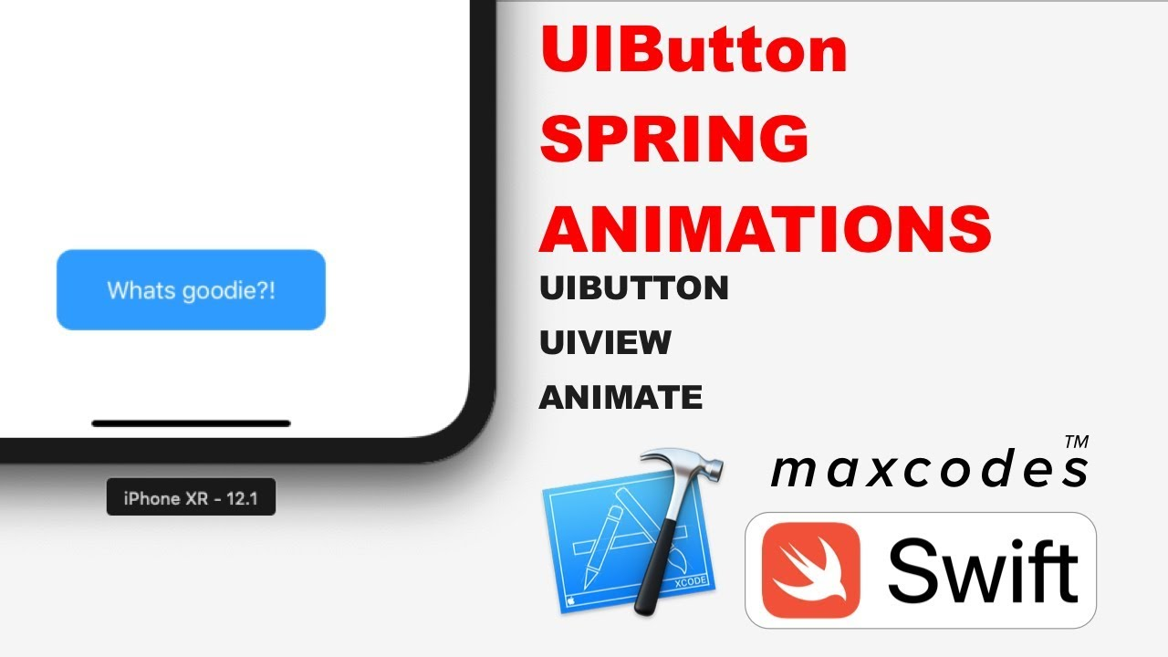 Button Tap Spring Animation - UIButton Spring Animations in Swift & Xcode