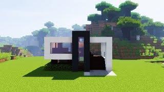 Como Construir una Casa Moderna Mediana | Tutorial de Minecraft 1.7.2 - 1.12.2