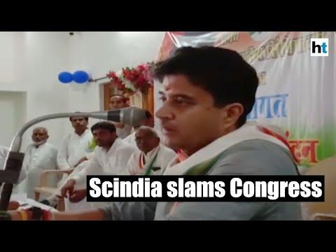 Jyotiraditya Scindia slams Congress govt in MP over farmer loans