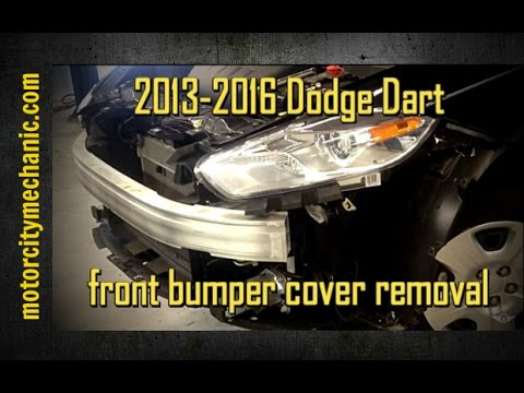 hqdefault 2013 2016 dodge dart front bumper cover removal youtube 2013 dodge dart headlight wiring diagram at edmiracle.co