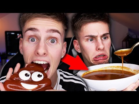 I only ate BROWN food for 24 HOURS challenge!