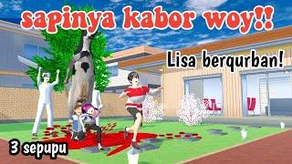 sapinya kabor woy!Lisa berqurban||3 sepupu||drama sakura school simulator