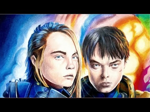 Drawing Valerian & Laureline (and the City of a 1000 Planets)