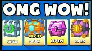 OPENING ALL GREAT CHEST!:::Clash royale::: LEGENDARY & MAGICAL CHEST