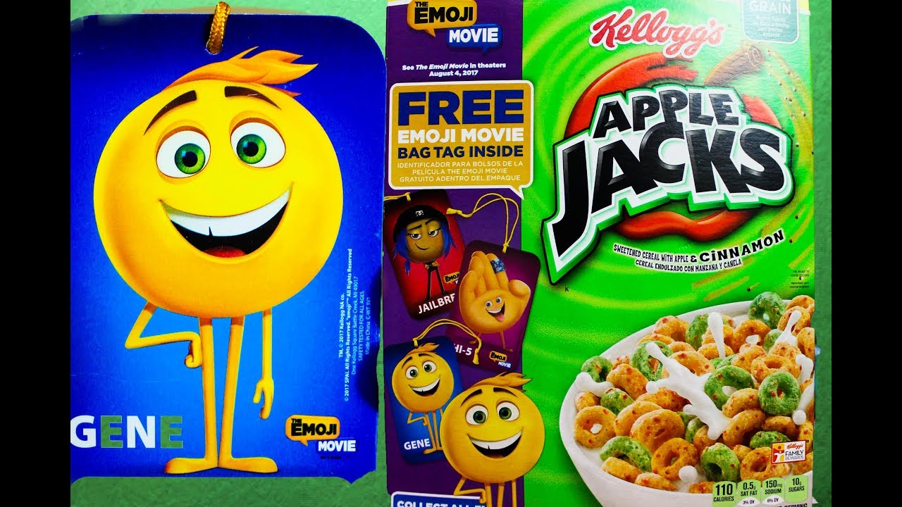 The Emoji Movie Surprise Prizes in Cereal Boxes Corn Pops u0026 Apple Jacks Toy : cereal box prizes - Aboutintivar.Com