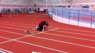 Беговая тренировка. Выбегание с колодок | Running training. Running out to the pads