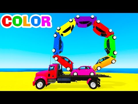 Thumbnail: Learn Numbers w Truck and Cars Cartoon for Children Kids Learn Colors in Spiderman Learning Video