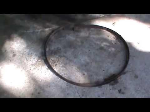wagon wheel scrap metal art