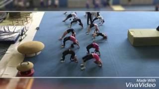 Урок в зале спортивной гимнастики