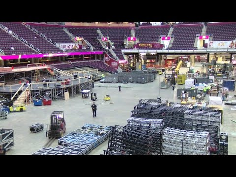 Quicken Loans Arena conversion continues hours after NBA Finals