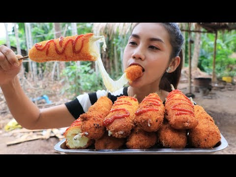 Yummy cooking crispy hot dog with cheese recipe – Cooking skill