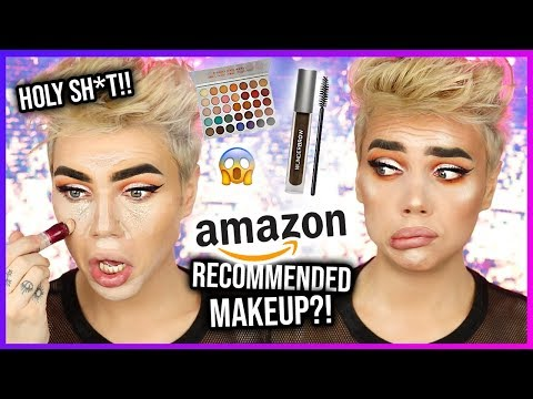 FULL FACE OF AMAZON RECOMMENDED MAKEUP!? Yall...OMG! | Thomas Halbert