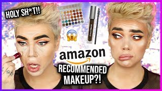 FULL FACE OF AMAZON RECOMMENDED MAKEUP!? Y'all...OMG! | Thomas Halbert