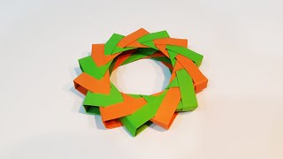 how to make a paper ninja Star (Shuriken) - easy handcraft modular origami DIY - video tutorial