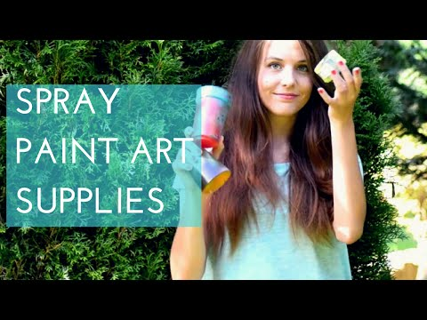 What do you need for Spray Paint Art