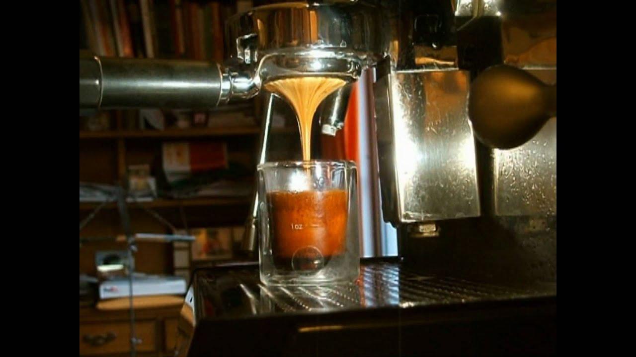 an espresso shot full of crema youtube