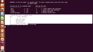 VI text editor tutorial unix linux