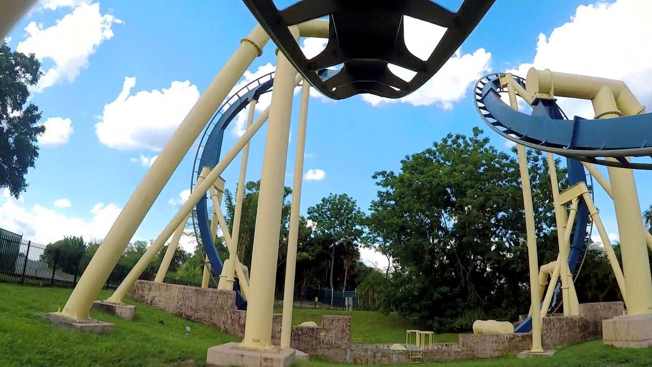 Montu front seat on-ride HD POV @60fps Busch Gardens Tampa